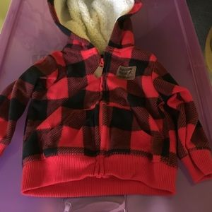 Carters 6M (Month) Red & Black Jacket